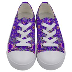 Art Abstract Background Kids  Low Top Canvas Sneakers