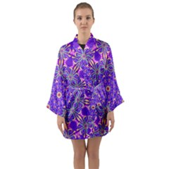 Art Abstract Background Long Sleeve Kimono Robe