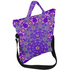 Art Abstract Background Fold Over Handle Tote Bag