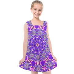 Art Abstract Background Kids  Cross Back Dress