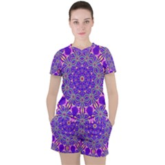 Art Abstract Background Women s Tee And Shorts Set