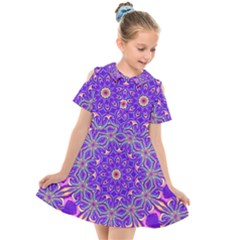 Art Abstract Background Kids  Short Sleeve Shirt Dress
