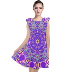 Art Abstract Background Tie Up Tunic Dress