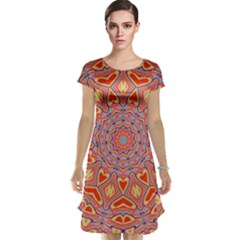 Art Abstract Background Cap Sleeve Nightdress