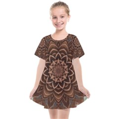 Abstract Art Texture Mandala Kids  Smock Dress