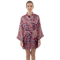 Abstract Art Abstract Background Long Sleeve Kimono Robe