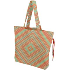 Geometric Art Abstract Background Drawstring Tote Bag