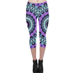Abstract Art Background Capri Leggings