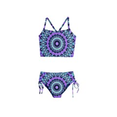 Abstract Art Background Girls  Tankini Swimsuit