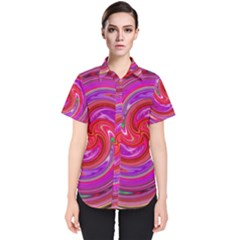 Abstract Art Abstract Background Women s Short Sleeve Shirt