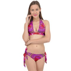 Abstract Art Abstract Background Tie It Up Bikini Set