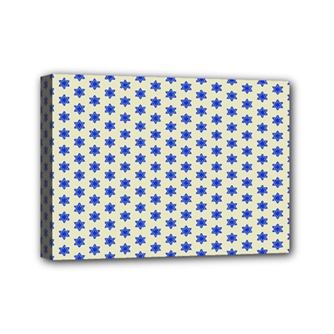 Star Background Backdrop Blue Mini Canvas 7  X 5  (stretched)