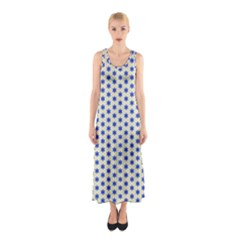 Star Background Backdrop Blue Sleeveless Maxi Dress