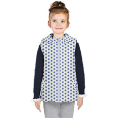 Star Background Backdrop Blue Kid s Hooded Puffer Vest by Wegoenart
