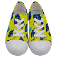 Leaves Pattern Picture Detail Kids  Low Top Canvas Sneakers