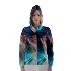 Background Art Abstract Watercolor Hooded Windbreaker (women) by Wegoenart