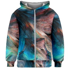 Background Art Abstract Watercolor Kids Zipper Hoodie Without Drawstring