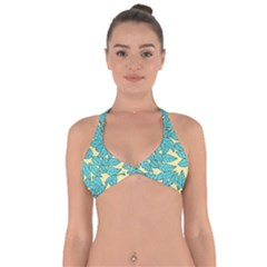 Leaves Dried Leaves Stamping Halter Neck Bikini Top