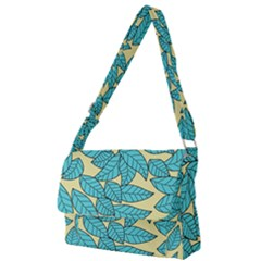 Leaves Dried Leaves Stamping Full Print Messenger Bag by Wegoenart