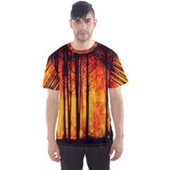 Forest Fire Forest Climate Change Men s Sports Mesh Tee