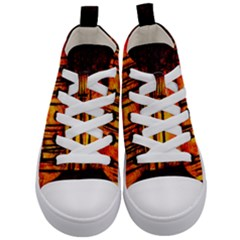 Forest Fire Forest Climate Change Kid s Mid Top Canvas Sneakers