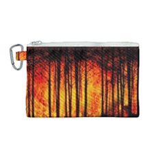 Forest Fire Forest Climate Change Canvas Cosmetic Bag (medium)