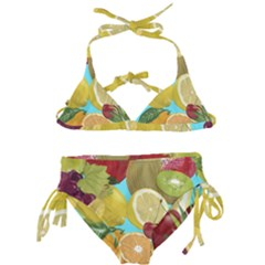 Fruit Picture Drawing Illustration Kids  Classic Bikini Set