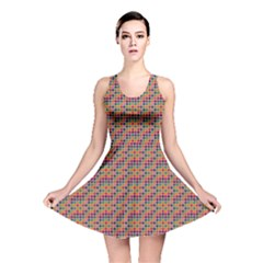 Colorful Background Colorful Backdrop Reversible Skater Dress
