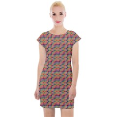 Colorful Background Colorful Backdrop Cap Sleeve Bodycon Dress