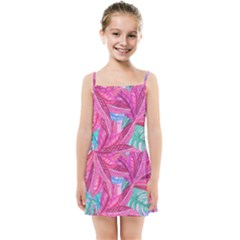 Leaves Tropical Reason Stamping Kids Summer Sun Dress