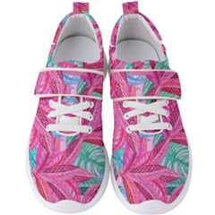 Leaves Tropical Reason Stamping Men s Velcro Strap Shoes by Wegoenart
