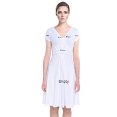 Butterfly Shape Jewelry Short Sleeve Front Wrap Dress