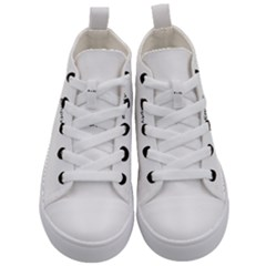 Compass Symbol Kids  Mid Top Canvas Sneakers