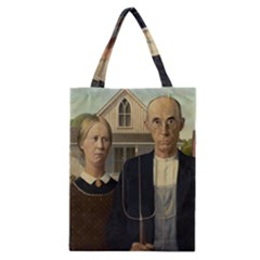 Grant Wood American Gothic Classic Tote Bag by ArtMuseum