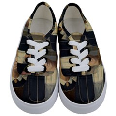 Grant Wood American Gothic Kids  Classic Low Top Sneakers