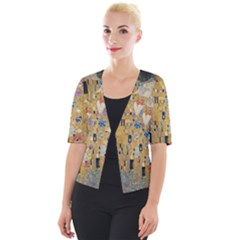 Klimt   The Kiss Cropped Button Cardigan by ArtMuseum