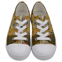 Klimt   The Kiss Kids  Low Top Canvas Sneakers