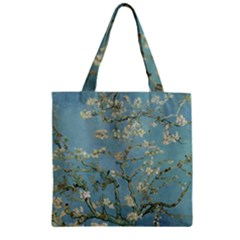Van Gogh Almond Blossom Zipper Grocery Tote Bag