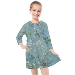 Van Gogh Almond Blossom Kids  Quarter Sleeve Shirt Dress