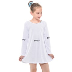 Fish Bone Blue Skeleton Kids  Long Sleeve Dress