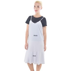 Fish Bone Blue Skeleton Camis Fishtail Dress