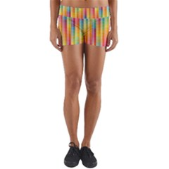 Pattern Background Colorful Abstract Yoga Shorts