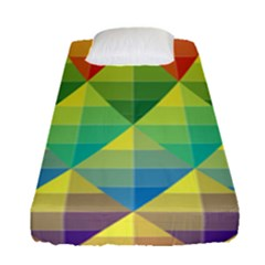 Background Colorful Geometric Fitted Sheet (single Size)