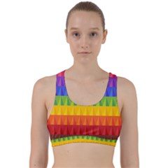 Abstract Pattern Background Back Weave Sports Bra