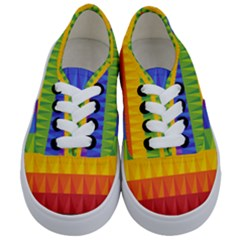 Abstract Pattern Background Kids  Classic Low Top Sneakers