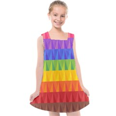 Abstract Pattern Background Kids  Cross Back Dress