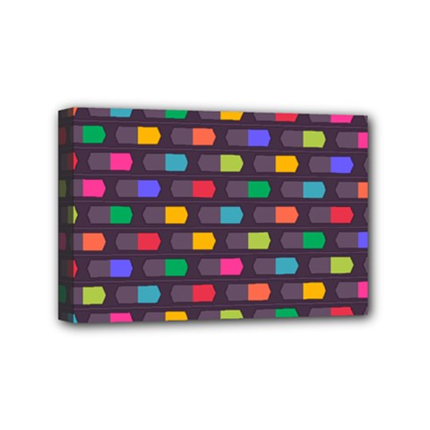 Background Colorful Geometric Mini Canvas 6  X 4  (stretched)