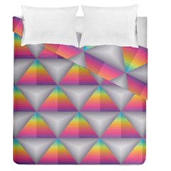 Trianggle Background Colorful Triangle Duvet Cover Double Side (queen Size) by Wegoenart