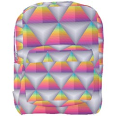 Trianggle Background Colorful Triangle Full Print Backpack