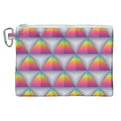 Trianggle Background Colorful Triangle Canvas Cosmetic Bag (xl)